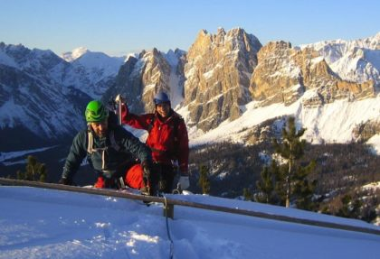 Winter Via Ferrata